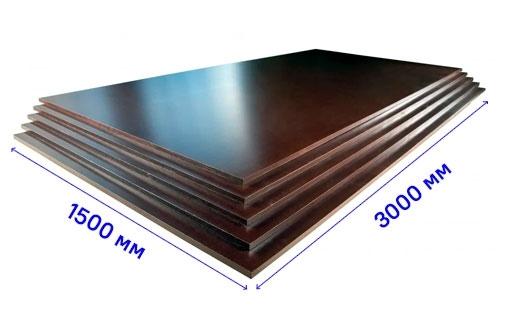 Ламинированная фанера FI/F3 1500х3000 15 мм